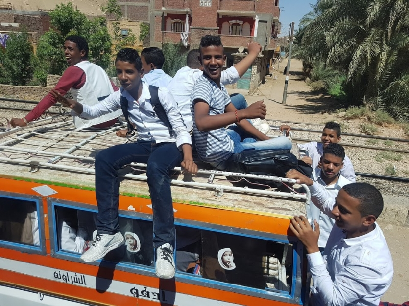 School bus in Cairo