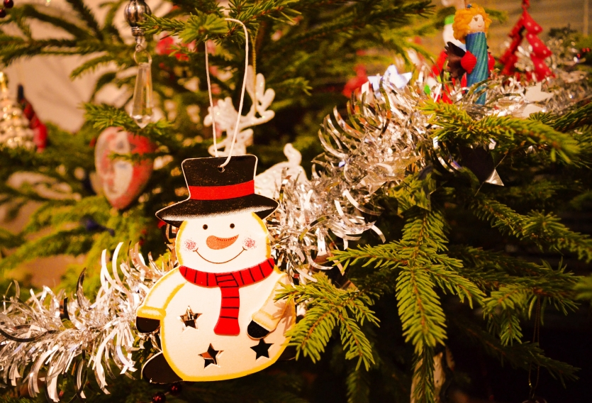 Tree decoration of Christmas toys