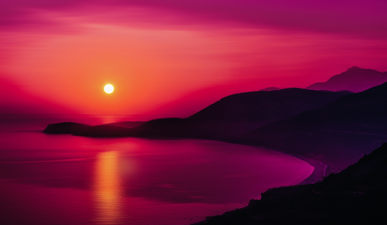 Sunset in Albania