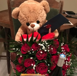 The best bouquet of red roses