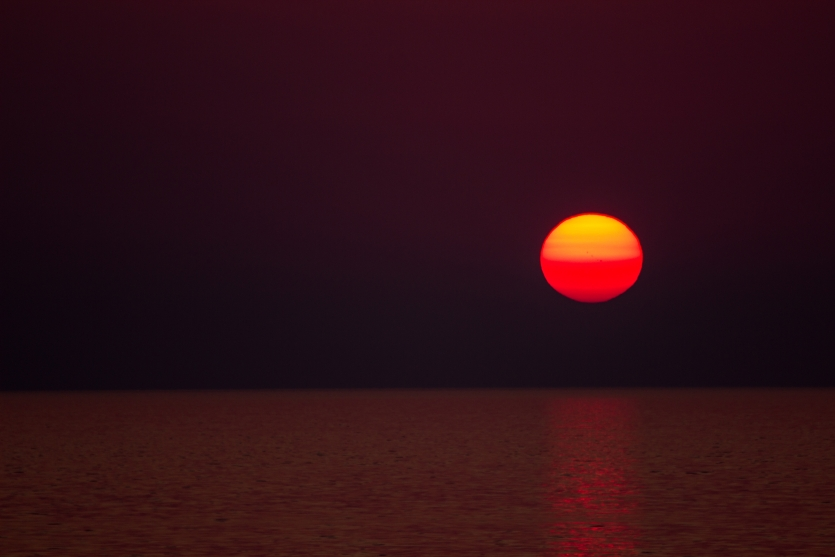 Sunset - a view from Lefkada island, Greece