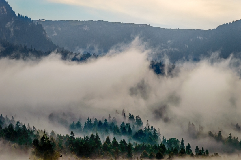 Over the misty mountains...